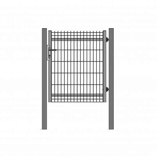 Portillon professionnel grillagé occultable clotex maille 200 55 mm